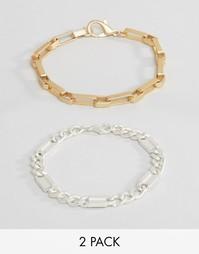Набор браслетов-цепочек ASOS - Мульти