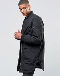 Легкая удлиненная куртка-пилот ADPT - Черный