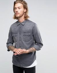 Джинсовая рубашка в стиле вестерн Lee - Темный