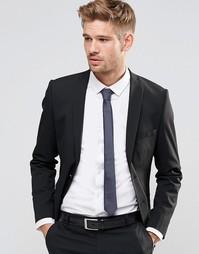 Пиджак узкого кроя из эластичной ткани Selected Homme - Черный
