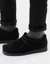 Замшевые туфли Base London XXVI Genesis - Черный