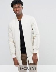 Удлиненная куртка‑пилот The New County - Мел