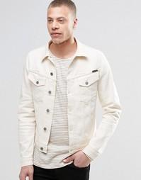 Светло-бежевая джинсовая куртка Nudie Billy - Экрю