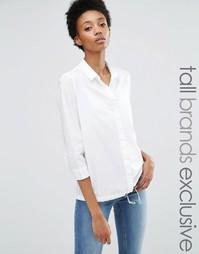 Рубашка с кромкой на шнурке Noisy May Tall - Белый
