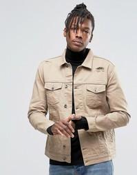 Джинсовая куртка в стиле вестерн песочного цвета Kubban - Бежевый