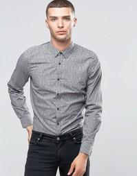 Рубашка слим со сплошным мелким принтом Sisley - Мелкий принт 941
