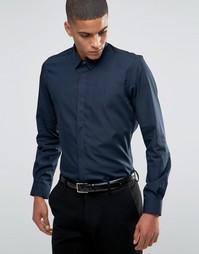 Строгая рубашка слим Hart Hollywood by Nick Hart - Темно-синий