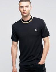 Узкая футболка с логотипом и контрастной полоской Fred Perry Laurel