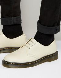 Туфли с 3 люверсами Dr Martens 1461 - Кремовый