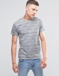 Полосатая футболка с карманом на груди Threadbare - Серый