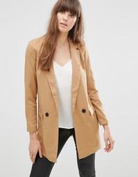 Удлиненный коричневый пиджак Vero Moda Noah - Табачно-коричневый