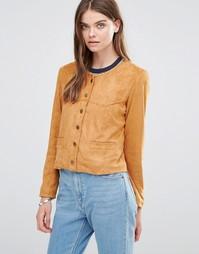 Куртка из искусственной замши Goldie Stand Alone - Коричневый