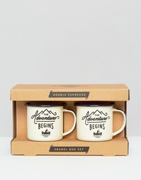 Gentlemens Hardware Double Espresso Enamel Mug Set - Мульти