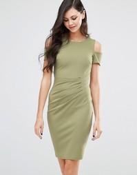 Платье-футляр миди Jessica Wright Avery - Хаки