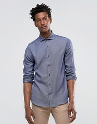 Рубашка слим с длинными рукавами Selected - Темно-синий