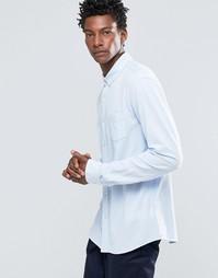 Рубашка на пуговицах зауженного кроя с карманом Celio - Голубой