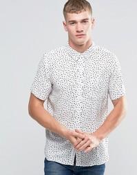Рубашка в горошек с короткими рукавами Native Youth - Белый