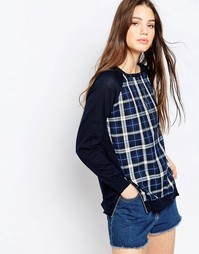 Джемпер QED London - Navy knit check