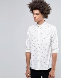 Белая рубашка с мелким принтом Cheap Monday Air - Белый