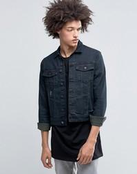 Джинсовая куртка в классическом стиле с потертостями Cheap Monday