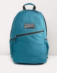 Парусиновый рюкзак с кожаной отделкой Heist - Зеленый