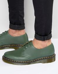 Туфли с 3 люверсами Dr Martens 1461 - Зеленый