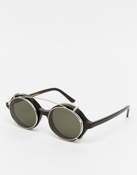 Солнцезащитные очки в круглой оправе Han Kjobenhavn - Черный