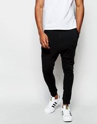 Спортивные штаны с заниженным шаговым швом Jack & Jones - Черный