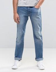 Светлые классические джинсы с потертостями United Colors of Benetton