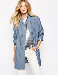 Легкое джинсовое пальто на пуговицах Bethnals Graham - Синий