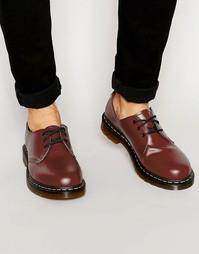 Туфли с 3 парами люверсов Dr Martens Original - Красный