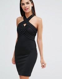 Платье с решеткой из лямок Forever Unique Jamilia - Черный