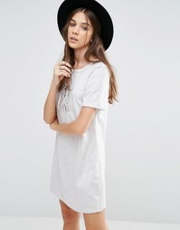 Кружевное платье Glamorous - Светло-серый