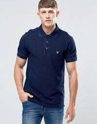 Темно-синяя футболка‑поло Lyle & Scott - Темный индиго