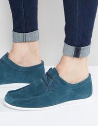 Замшевые туфли на белой подошве ASOS - Сине-зеленый
