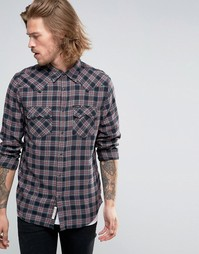 Клетчатая рубашка в стиле вестерн Lee Rider - Maroon port