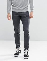 Суперзауженные темно-серые потертые джинсы G-Star 3301 - Серый