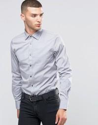 Рубашка зауженного кроя с контрастными пуговицами Sisley - Серый 941