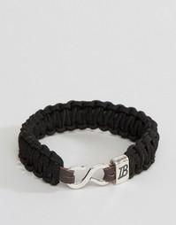 Черный плетеный браслет Icon Brand - Черный