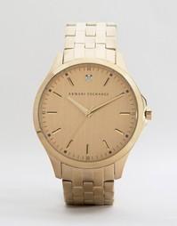 Золотистые наручные часы из нержавеющей стали Armani Exchange AX2167