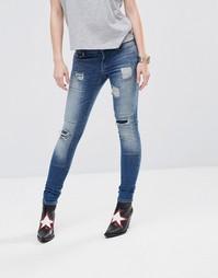 Рваные укороченные джинсы с молниями Noisy May Eve LW #0:D2]}
