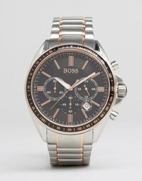 Часы с хронографом из смешанного металла Hugo Boss Driver - Серебряный