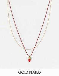 Ожерелье с подвеской‑клубничкой Les Nereides - Мульти