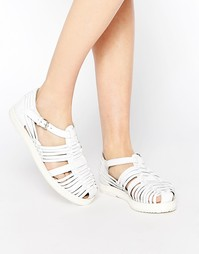 Кожаные туфли на плоской подошве Park Lane - Белый