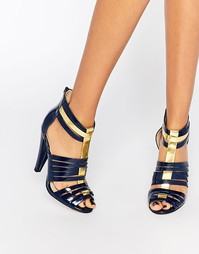 Туфли на каблуке с ремешками Little Mistress Fleur