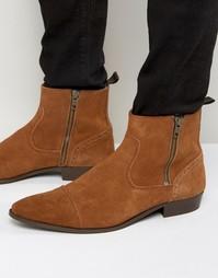 Замшевые ботинки Walk London Lancaster - Рыжий