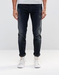 Темные стретчевые джинсы слим Replay Thyber - Темно-выбеленный