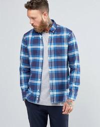 Клетчатая рубашка из хлопка с начесом Penfield Riverview - Синий