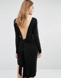 Облегающее платье с глубоким декольте сзади и драпировкой BCBG Max Azr