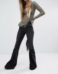 Расклешенные джинсы без застежки Free People Gummy - Черный